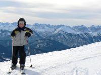 Skiurlaub Deutschland Alpen Berge Skifahren